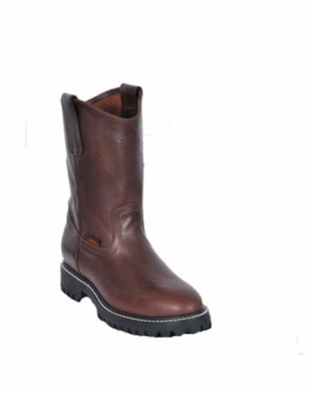 Mens Los Altos Grasso Nappa Work Boot with Full Lug Sole