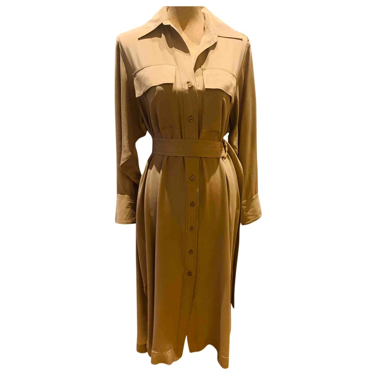 Joseph N Beige Silk dress for Women 36 FR