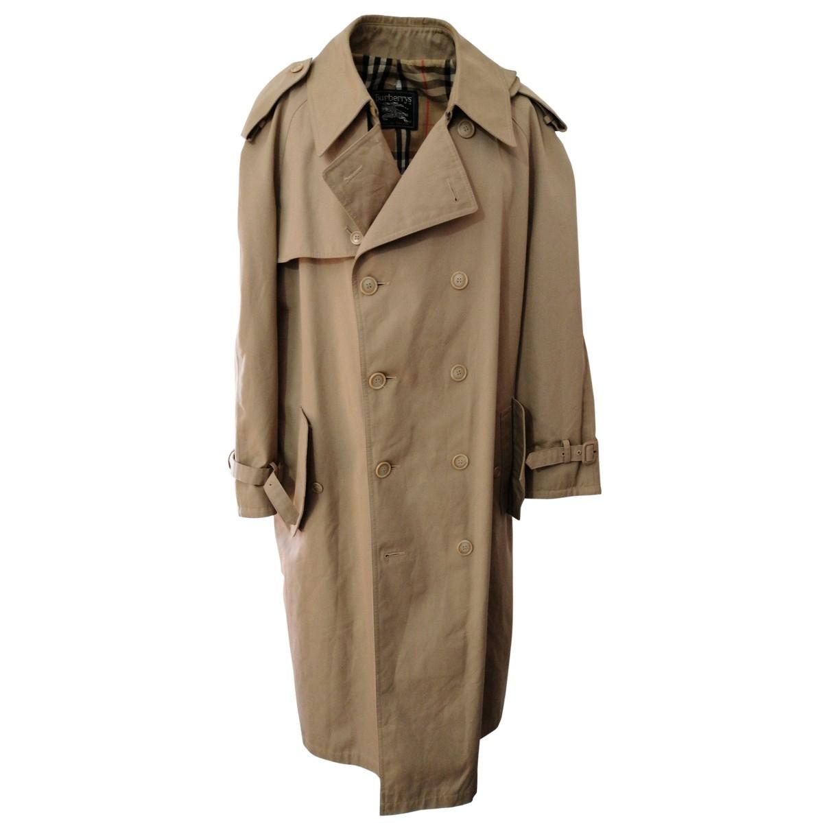 Burberry \N Beige Cotton coat  for Men 52 IT