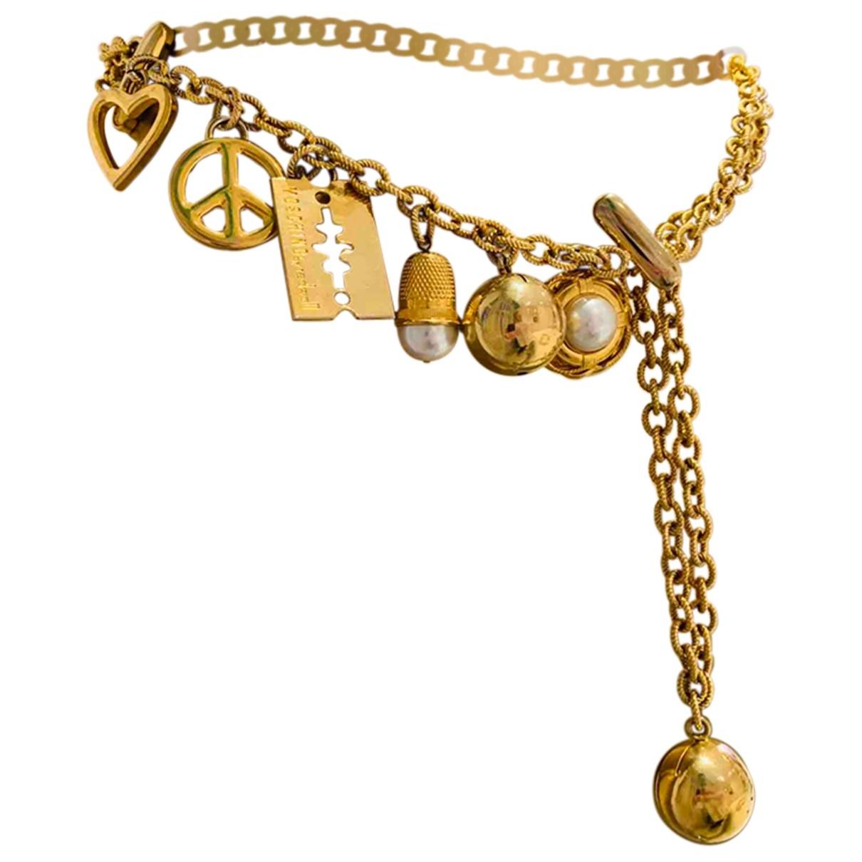 Moschino \N Gold Metal belt for Women L International