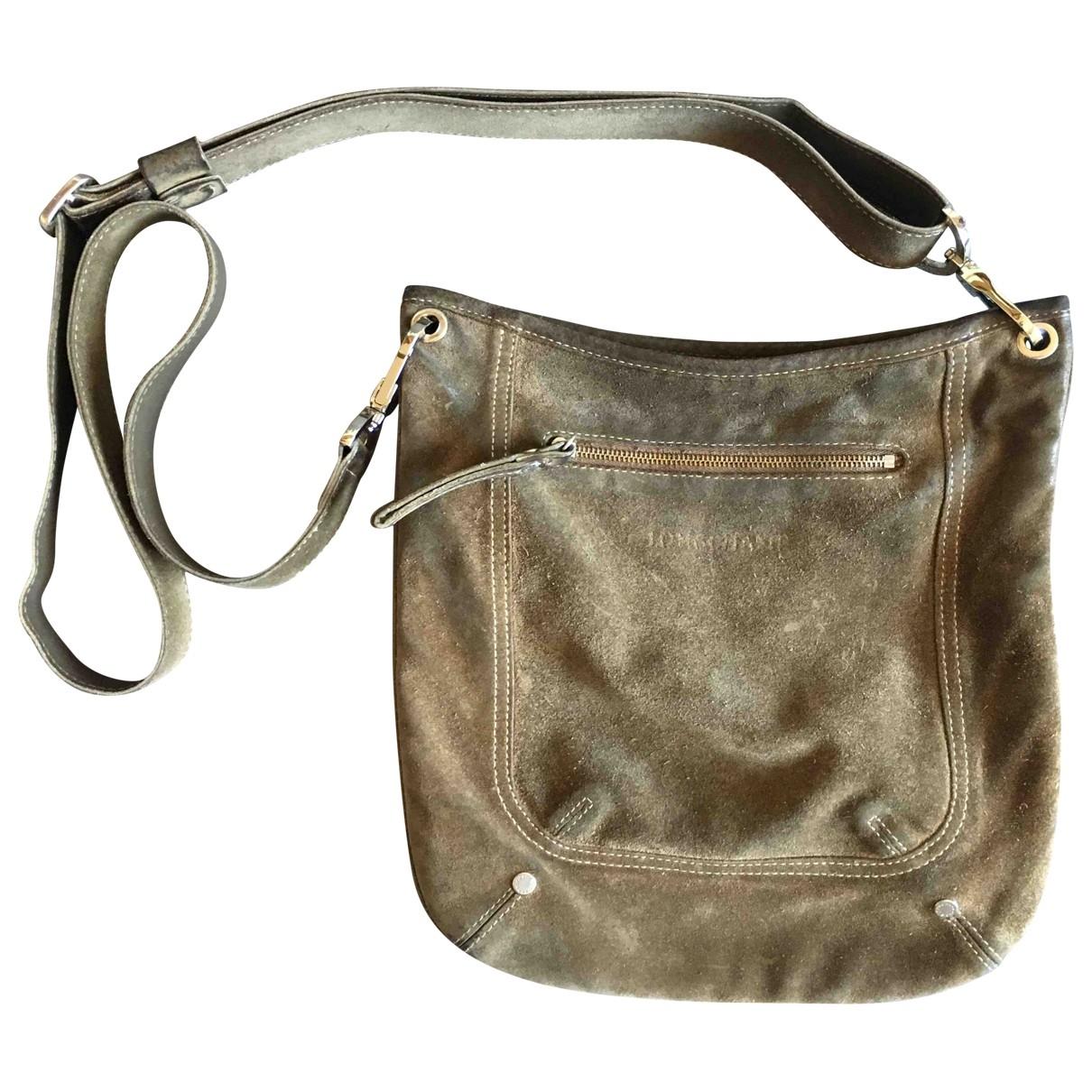Longchamp \N Handtasche in  Braun Veloursleder