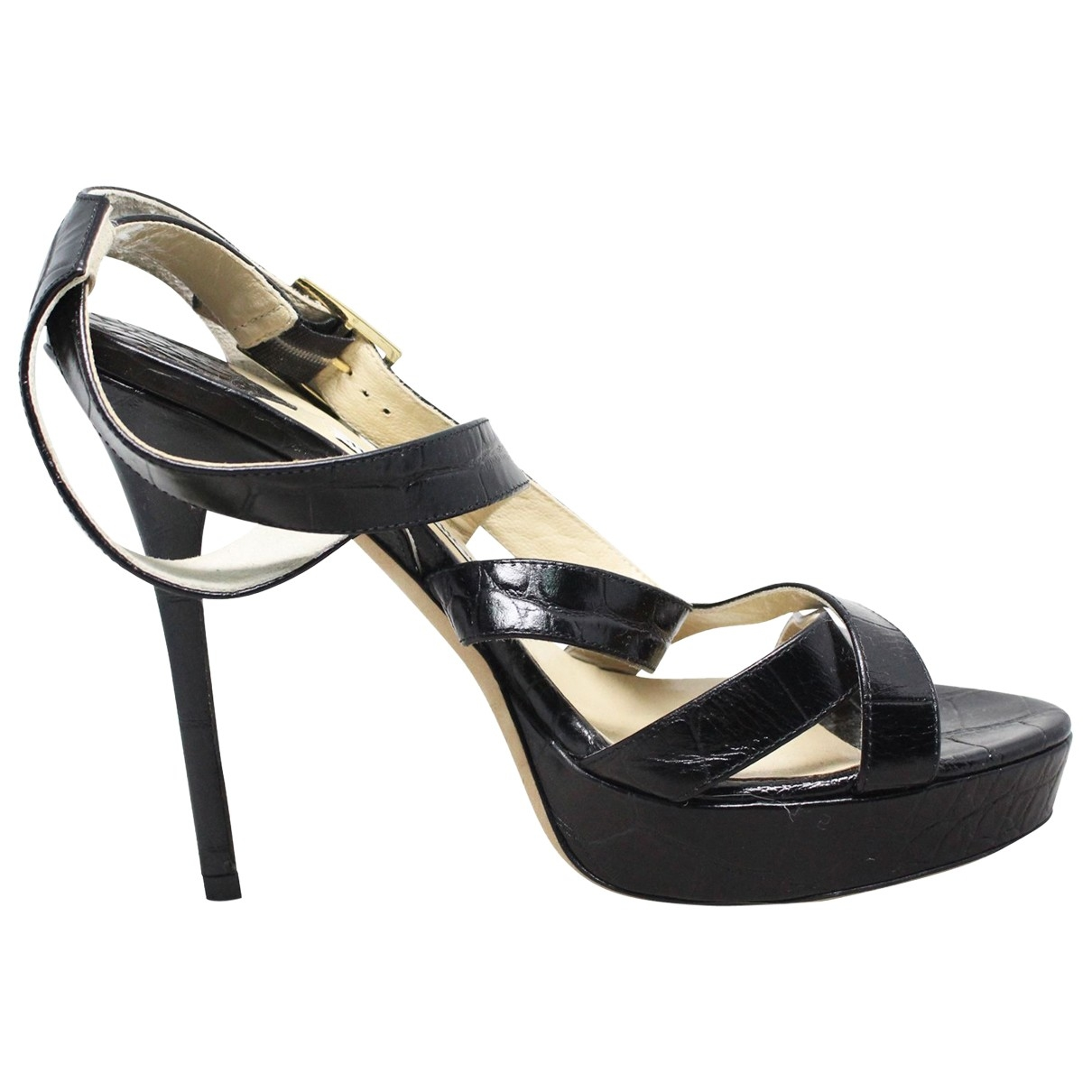 Jimmy Choo \N Pumps in  Schwarz Leder