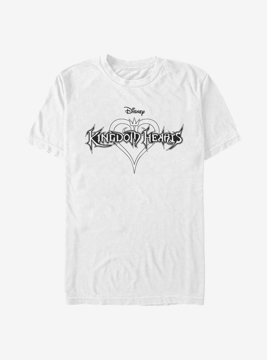 Disney Kingdom Hearts Black And White T-Shirt