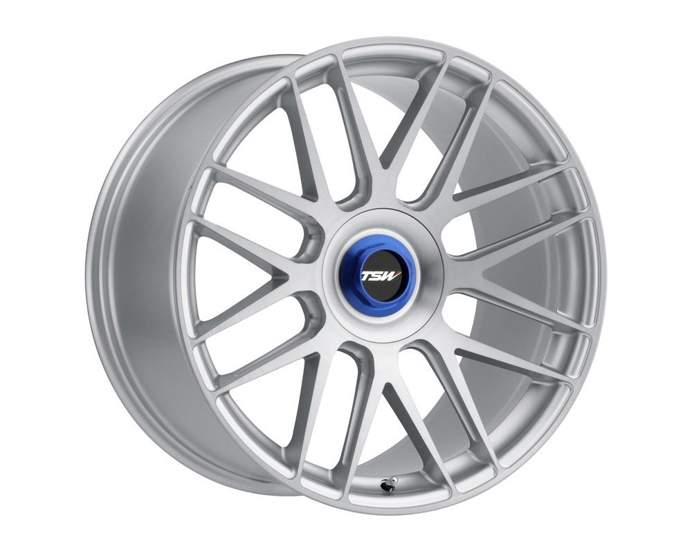 TSW Hockenheim-T Wheel 20x10.5 5x120 42mm Silver w/ Brushed Silver Face & Ball Milled Spoke