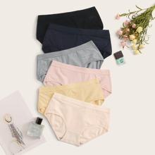 6pack Solid Panty Set