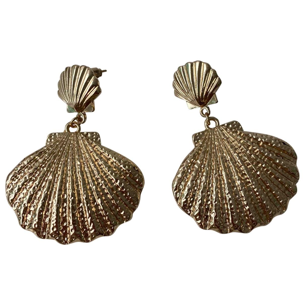 - Boucles d'oreilles Motifs Coquillages pour femme en metal - dore