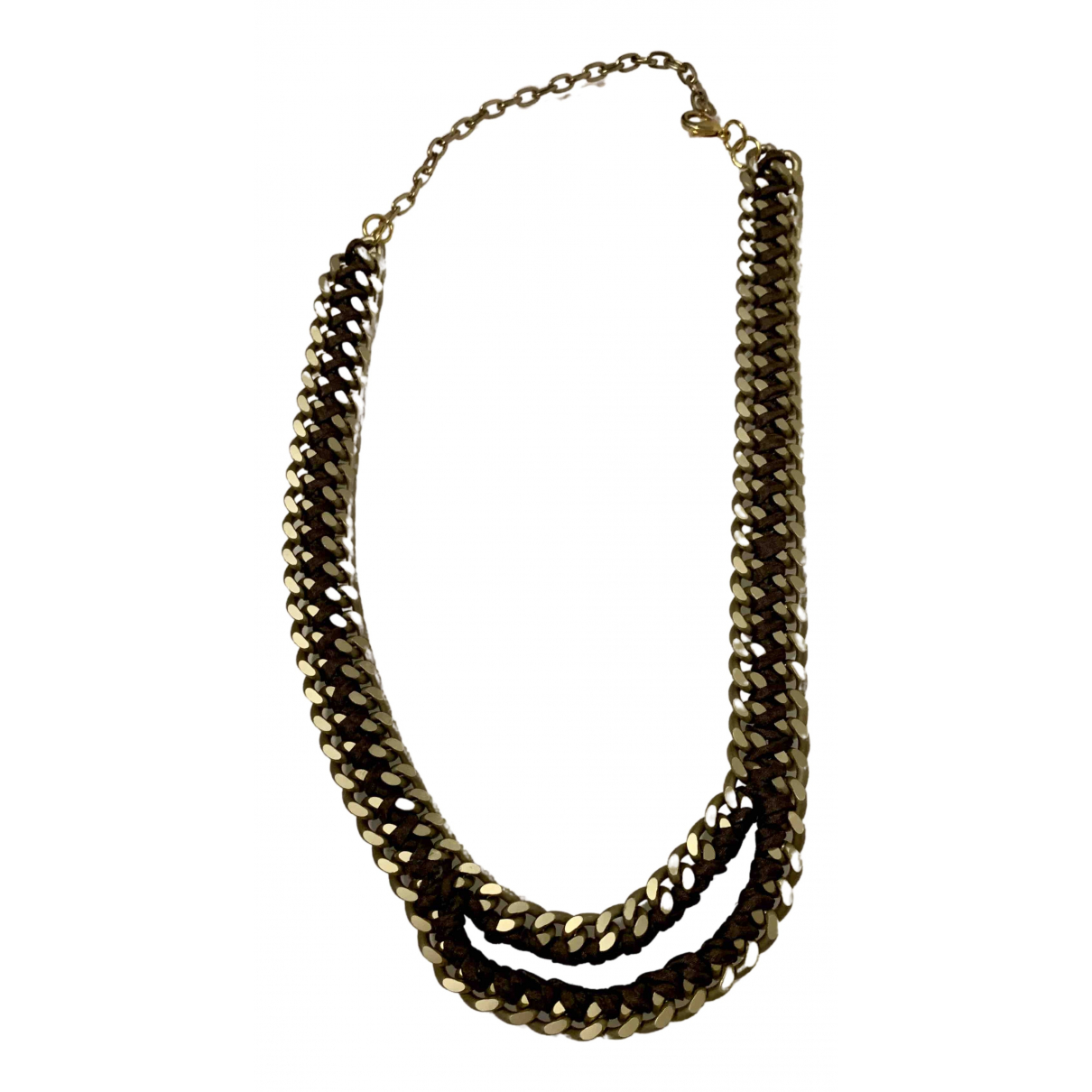 Non Signé / Unsigned N Gold Metal necklace for Women N