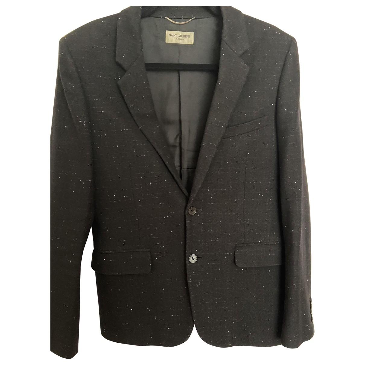 Saint Laurent \N Black Wool jacket  for Men 52 FR
