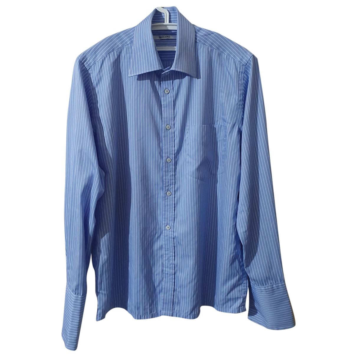 Azzaro - Chemises   pour homme en coton - bleu