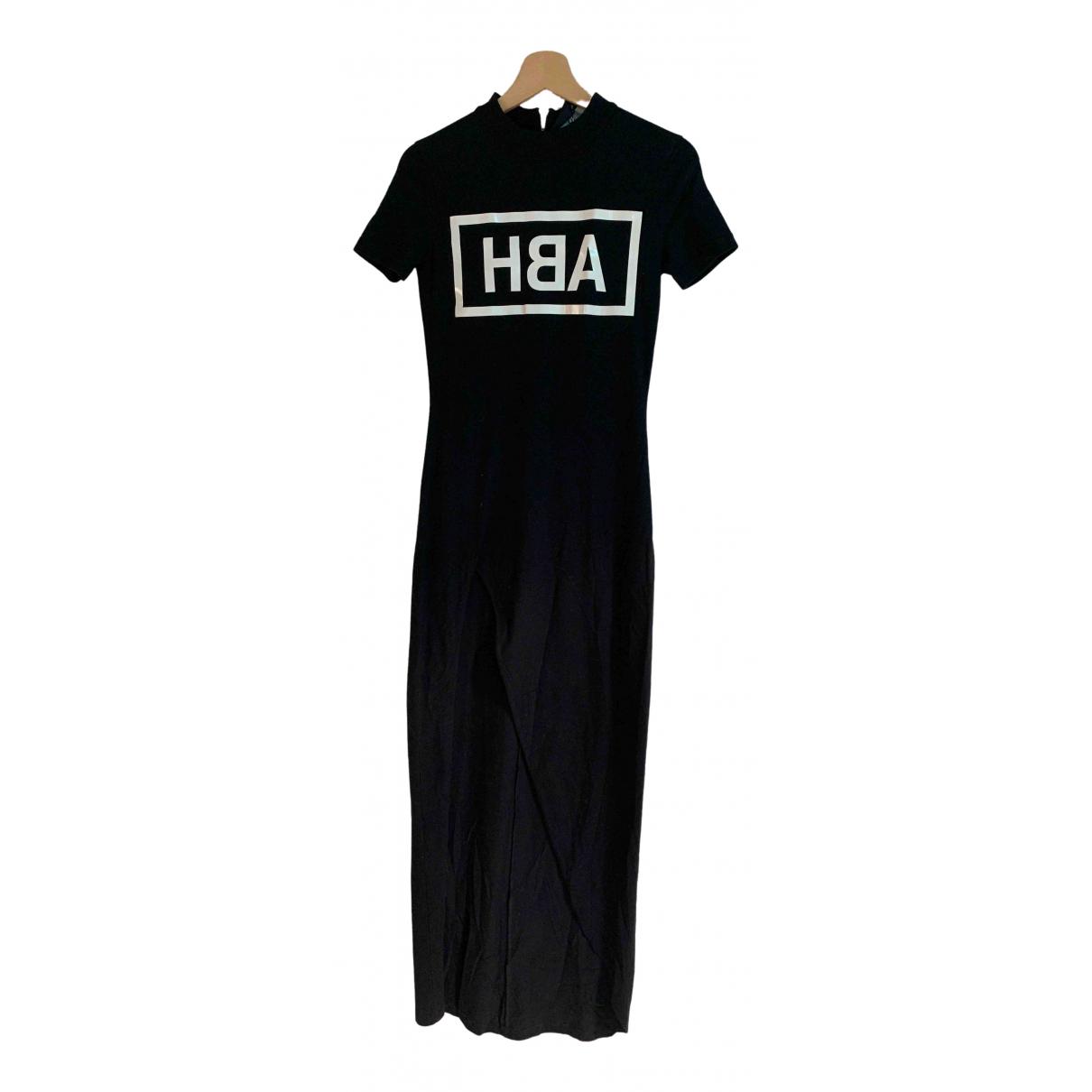 Hba \N Kleid in  Schwarz Baumwolle