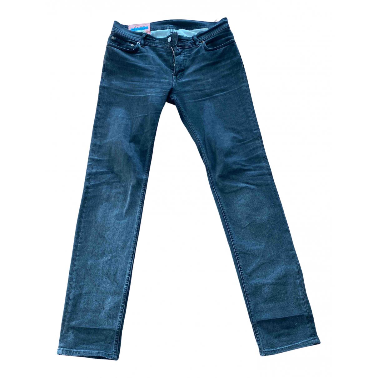 Acne Studios \N Anthracite Cotton Jeans for Men 32 UK - US