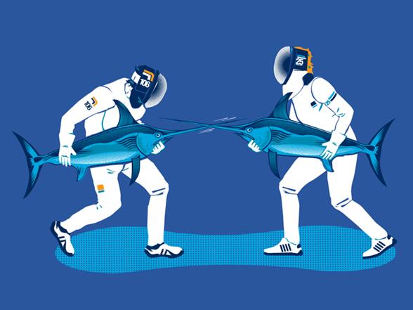 Swordfish Fencing T Shirt