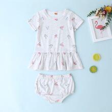 Baby Girl Ditsy Floral Ruffle Hem Tee & Shorts