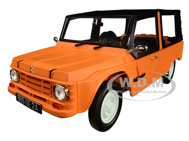 1983 Citroen Mehari Matt Kirghiz Orange with Black Top 1/18 Diecast Model Car by Norev