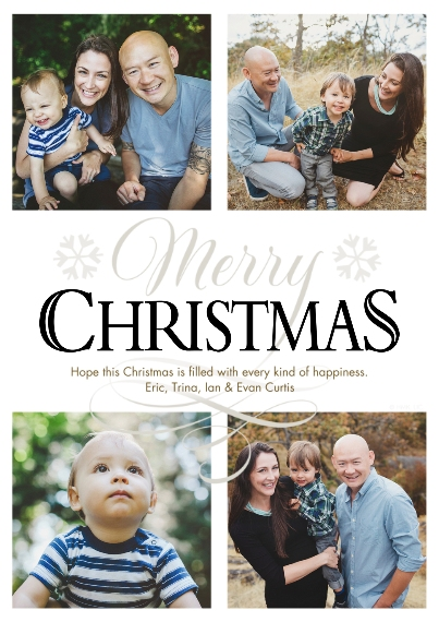 Christmas Photo Cards Set of 20, Premium 5x7 Foil Card, Card & Stationery -Snowflake Merry Christmas Collage by Hallmark