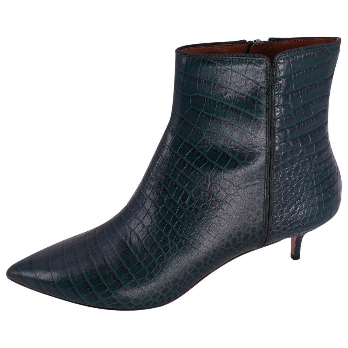 Aquazzura - Boots   pour femme en cuir - vert