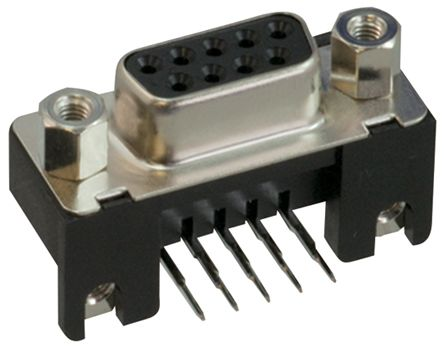 JAE 9 Way Right Angle Through Hole PCB D-sub Connector Socket