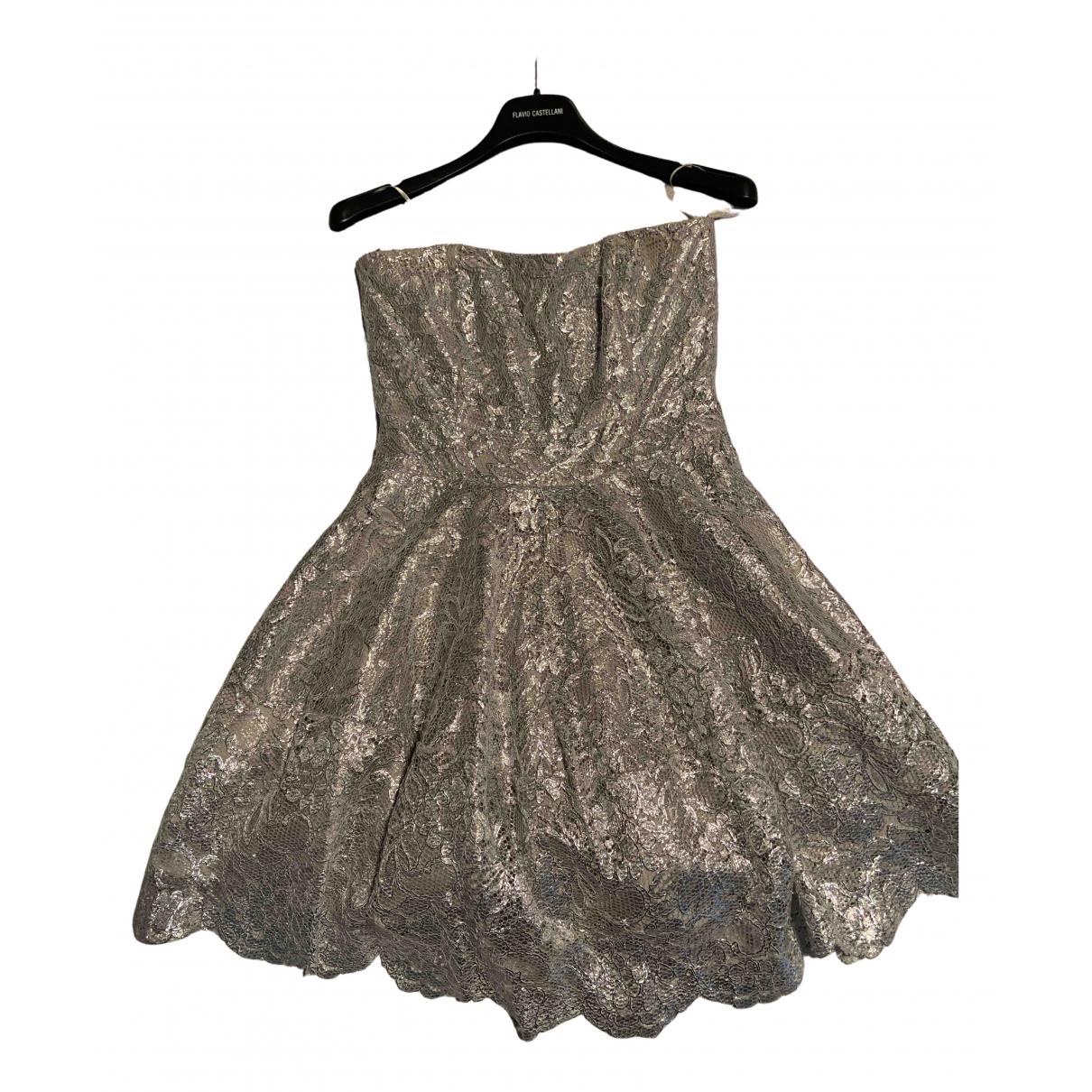 Flavio Castellani \N Kleid in  Silber Viskose