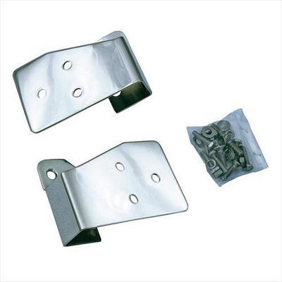 Rugged Ridge Mirror Relocation Brackets (Stainless Steel) - 11026.03