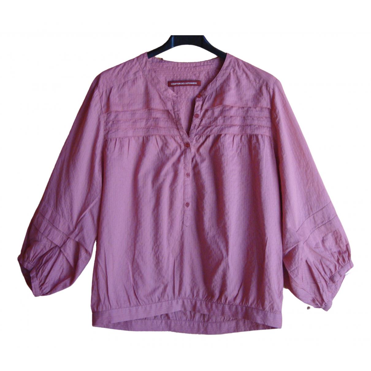Comptoir Des Cotonniers - Top   pour femme en coton - rose