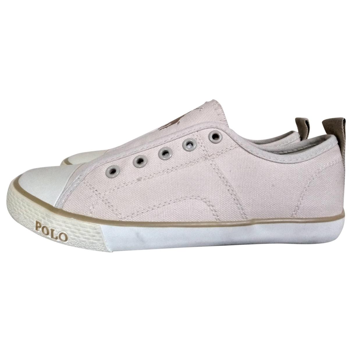 Polo Ralph Lauren \N Sneakers in  Beige Leinen