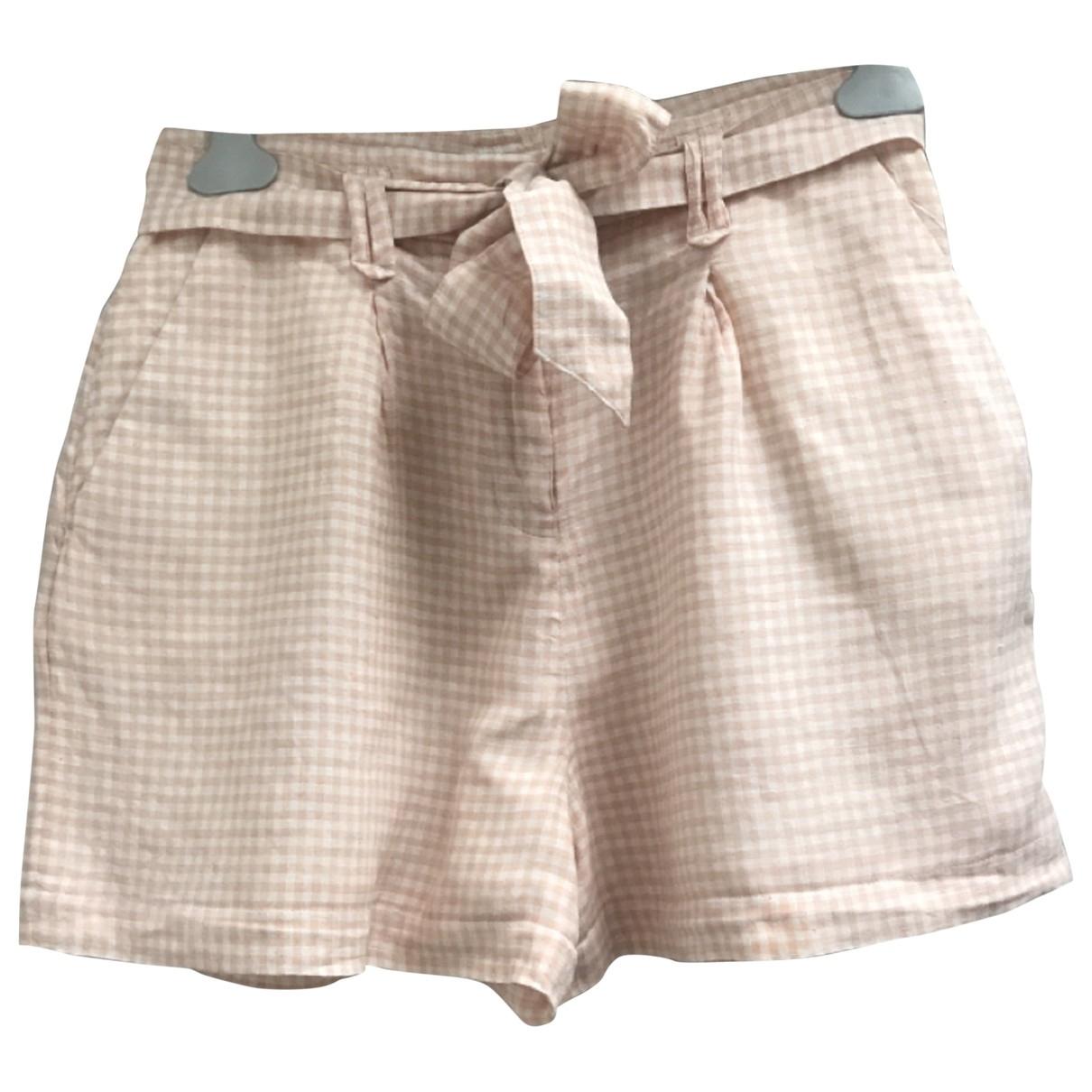 Sézane Spring Summer 2020 Pink Cotton Shorts for Women 36 FR