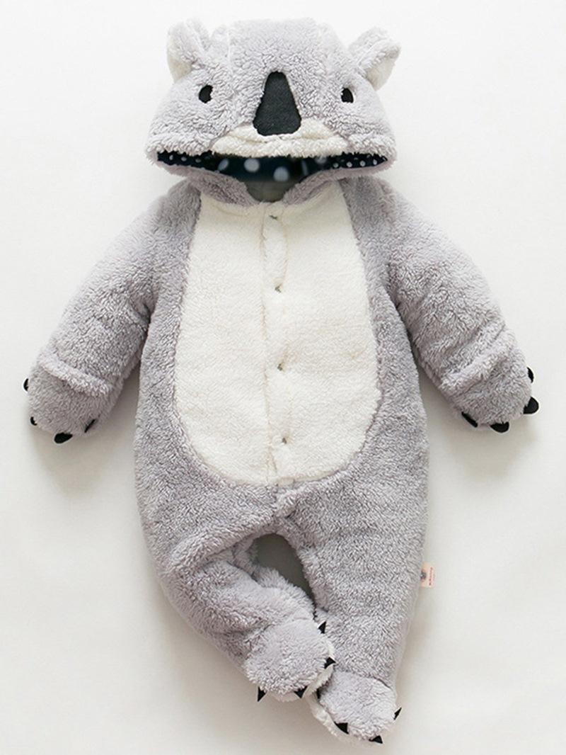 Ericdress Animal Model Hidden Button Warm Baby Boys & Girls Bodysuits