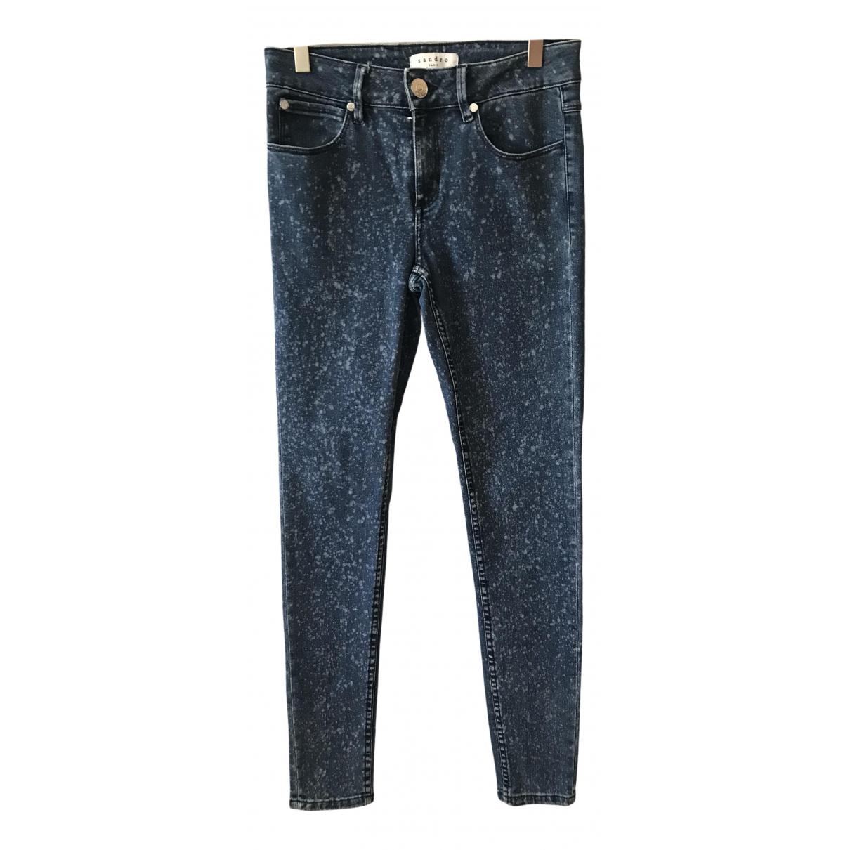 Sandro Fall Winter 2019 Blue Cotton - elasthane Jeans for Women 36 FR