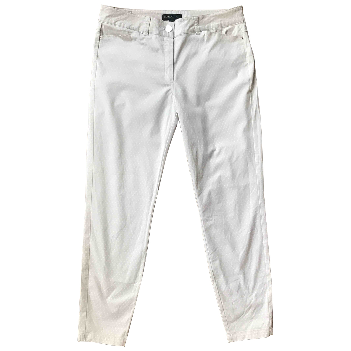 Mango \N Beige Cotton Trousers for Women 38 FR