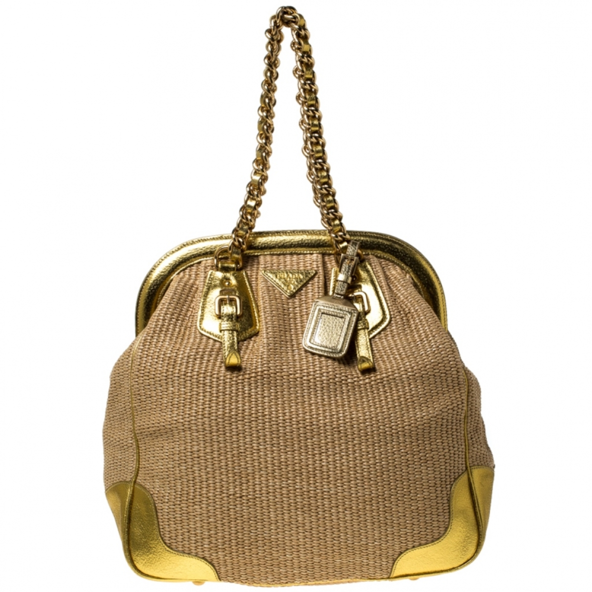 Prada \N Gold Cloth handbag for Women \N