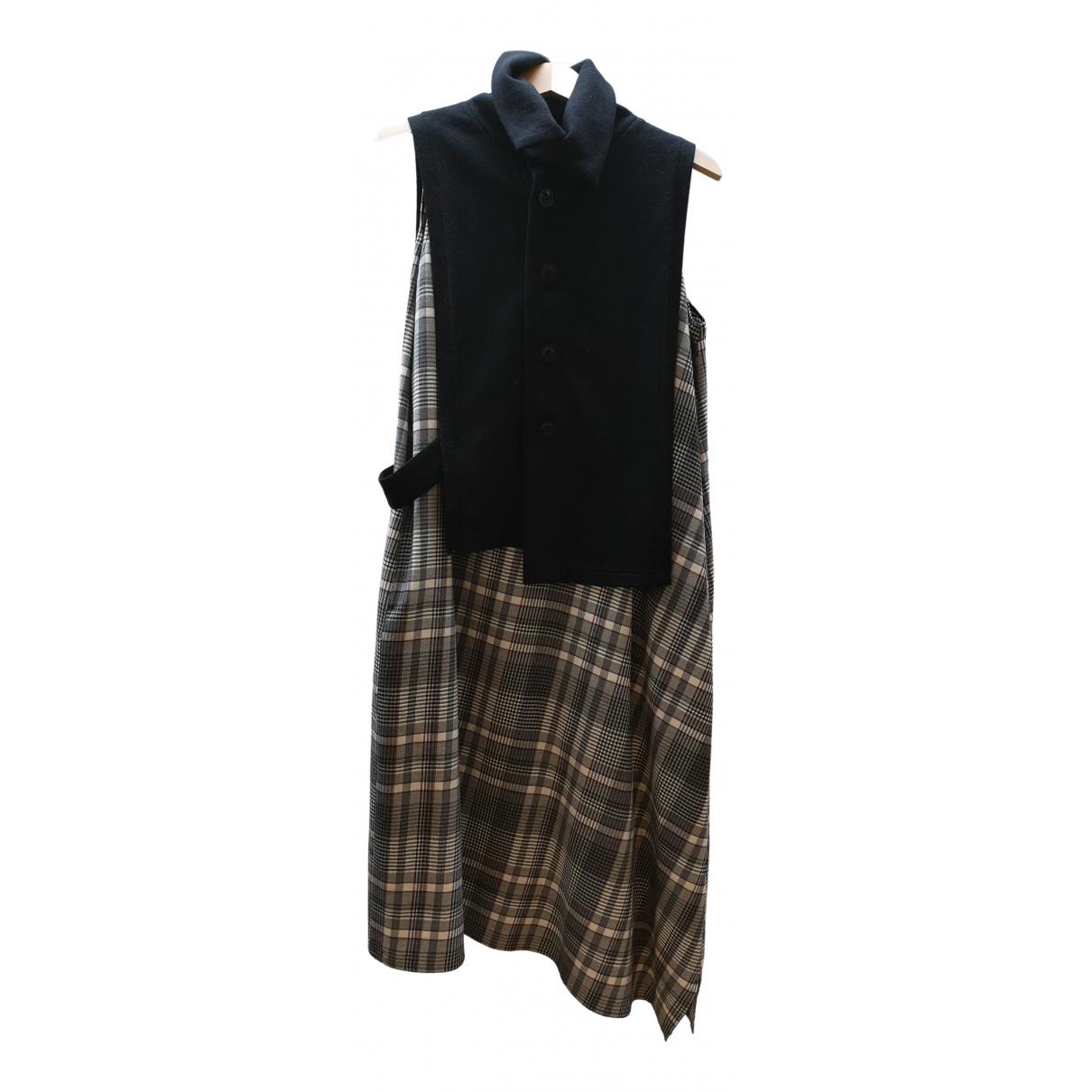 Yohji Yamamoto - Robe   pour femme en laine - noir