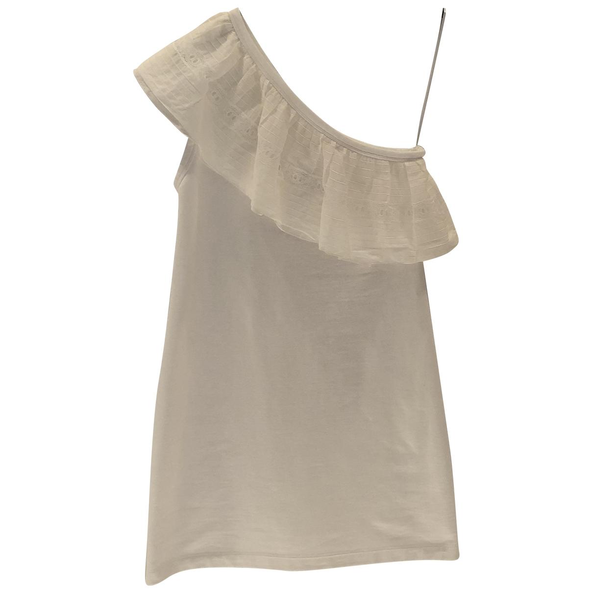 N°21 \N Kleid in  Weiss Baumwolle - Elasthan