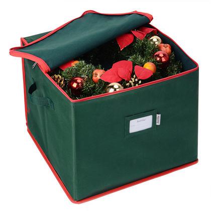 Ornament Storage Bag Organizer Holiday Christmas Wreath Toy 16 x 16 x 13