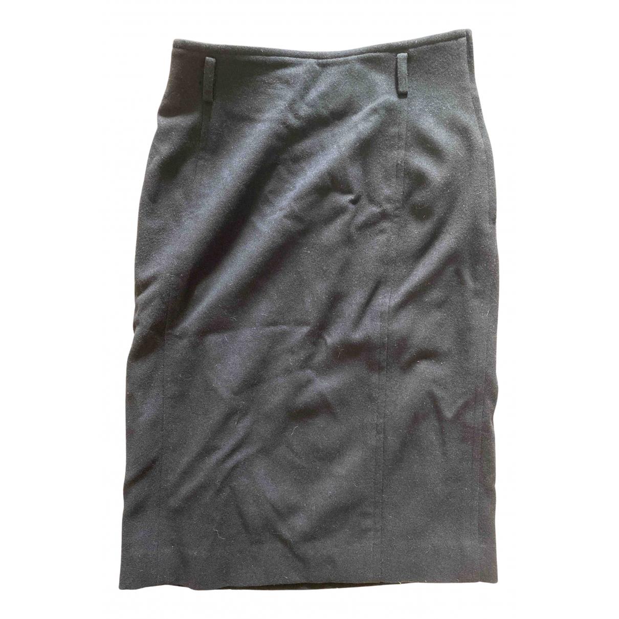 Yves Saint Laurent \N Black Wool skirt for Women 42 FR