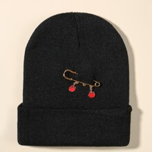 Flame Safety Pin Knit Beanie