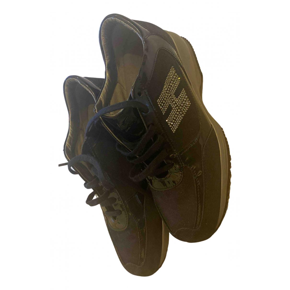 Hogan \N Sneakers in  Blau Samt