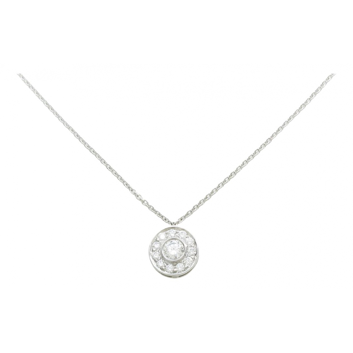 Tiffany & Co - Collier   pour femme en or blanc - argente