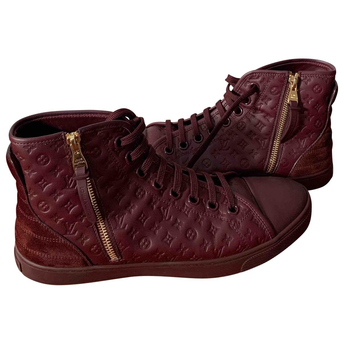 Louis Vuitton - Baskets   pour femme en cuir - bordeaux