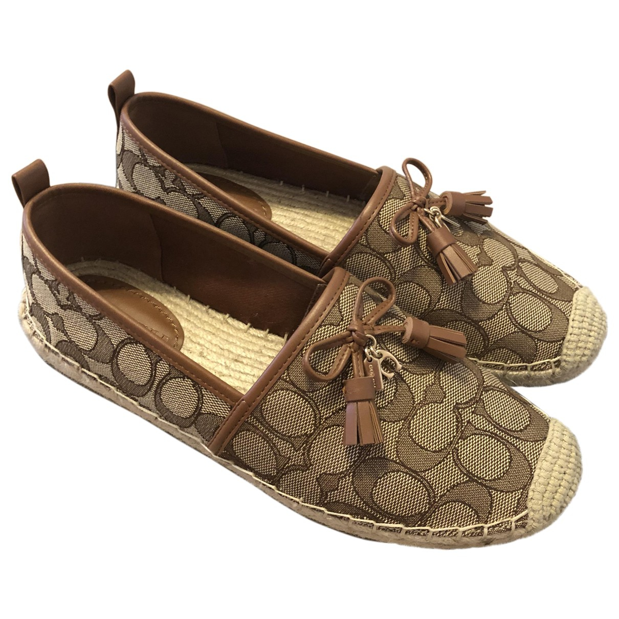 Coach \N Espadrilles in  Beige Polyester