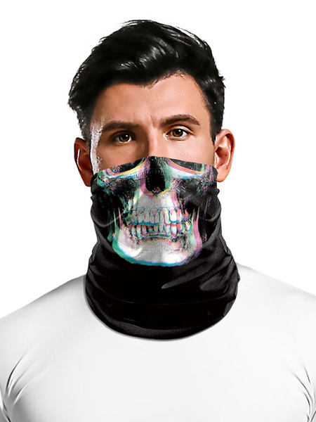 Milanoo Face Cover Seamless Bandana Skull Print Call Of Duty COD Motorcycle Outdoor Tube Covering