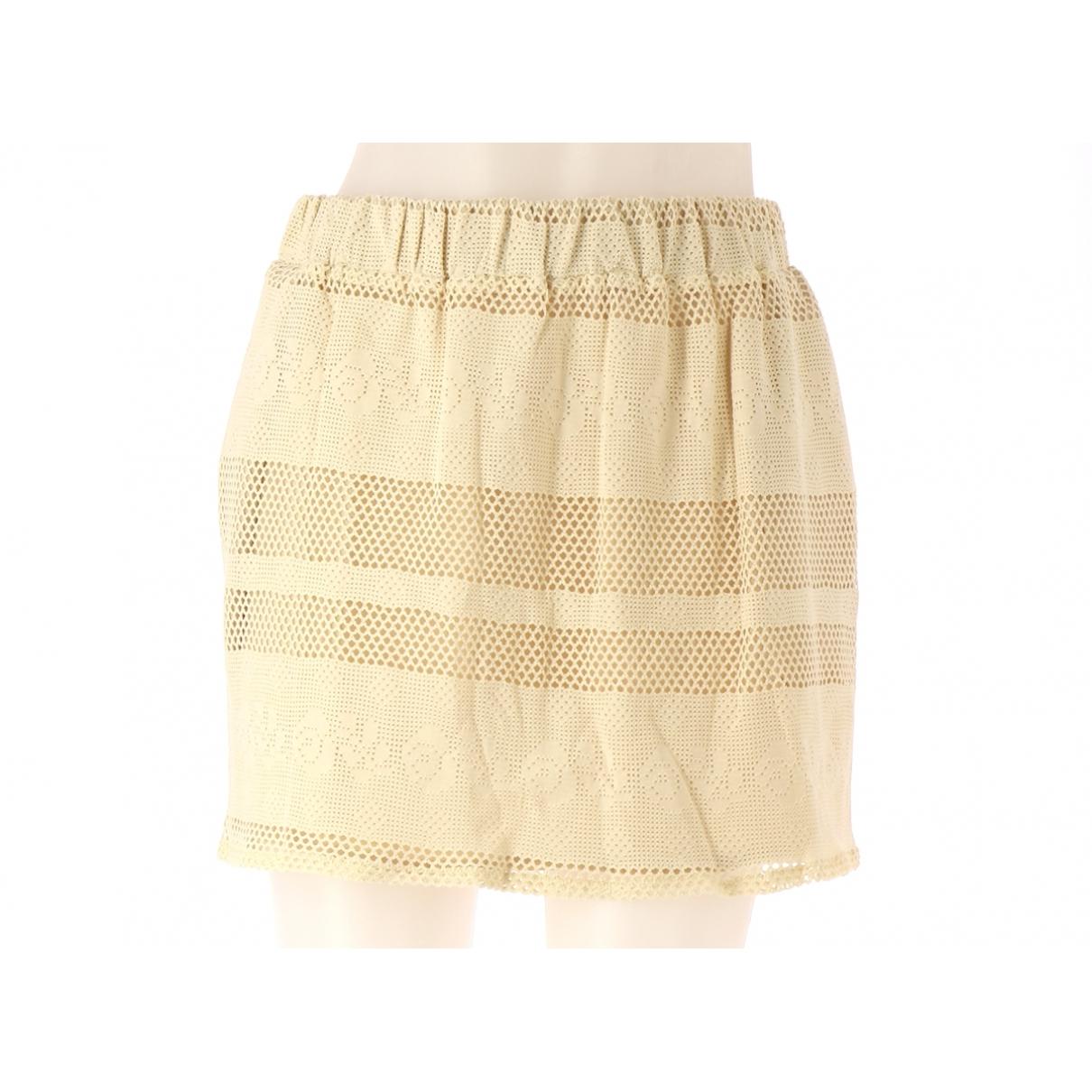 - Jupe   pour femme en coton - beige