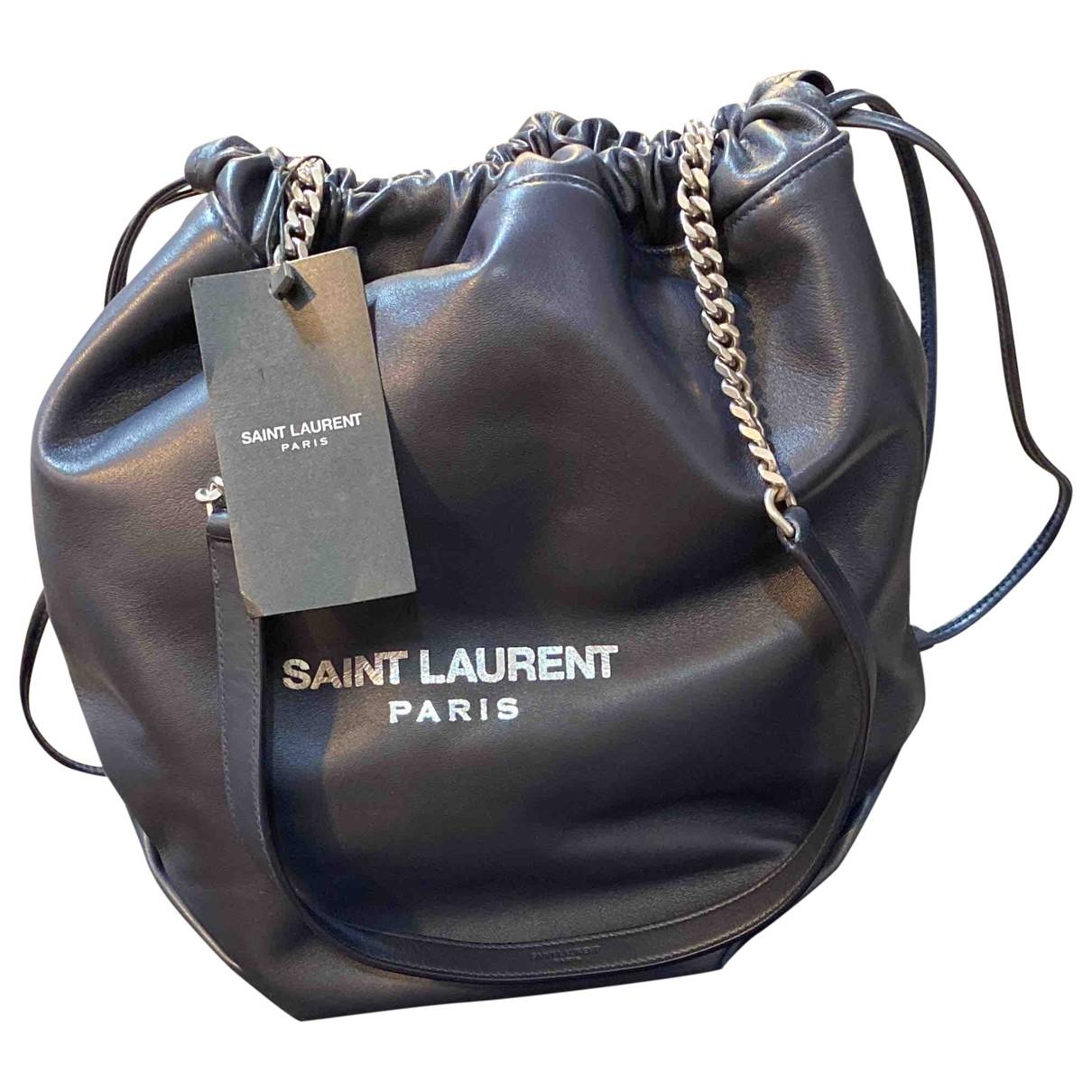 Saint Laurent \N Handtasche in  Marine Leder