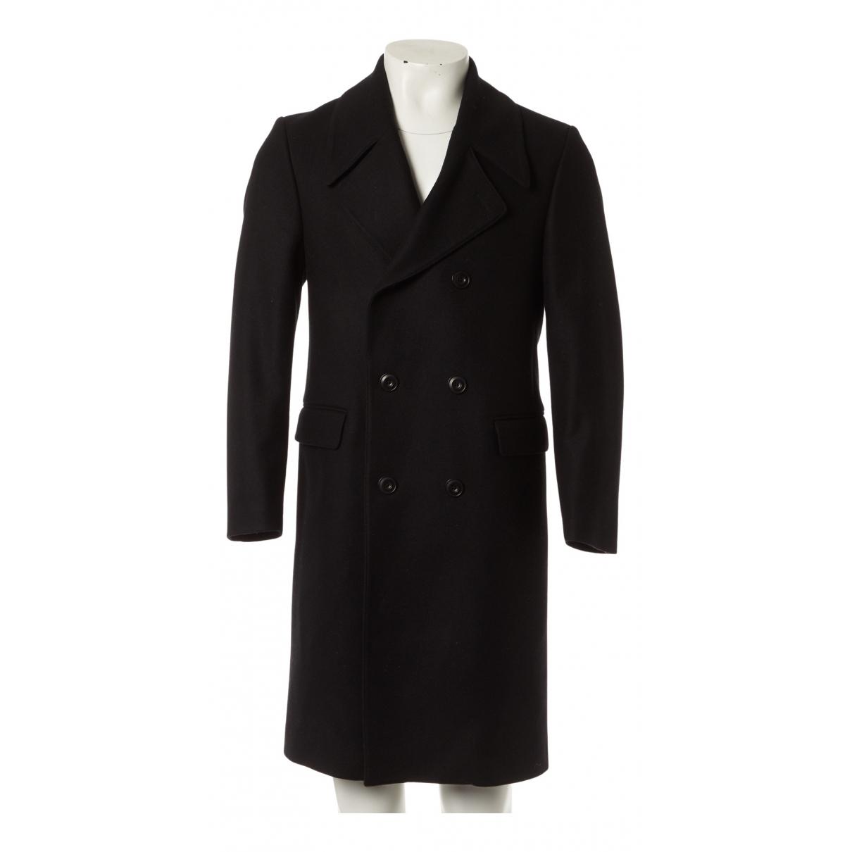 Lemaire - Manteau   pour homme en laine - noir