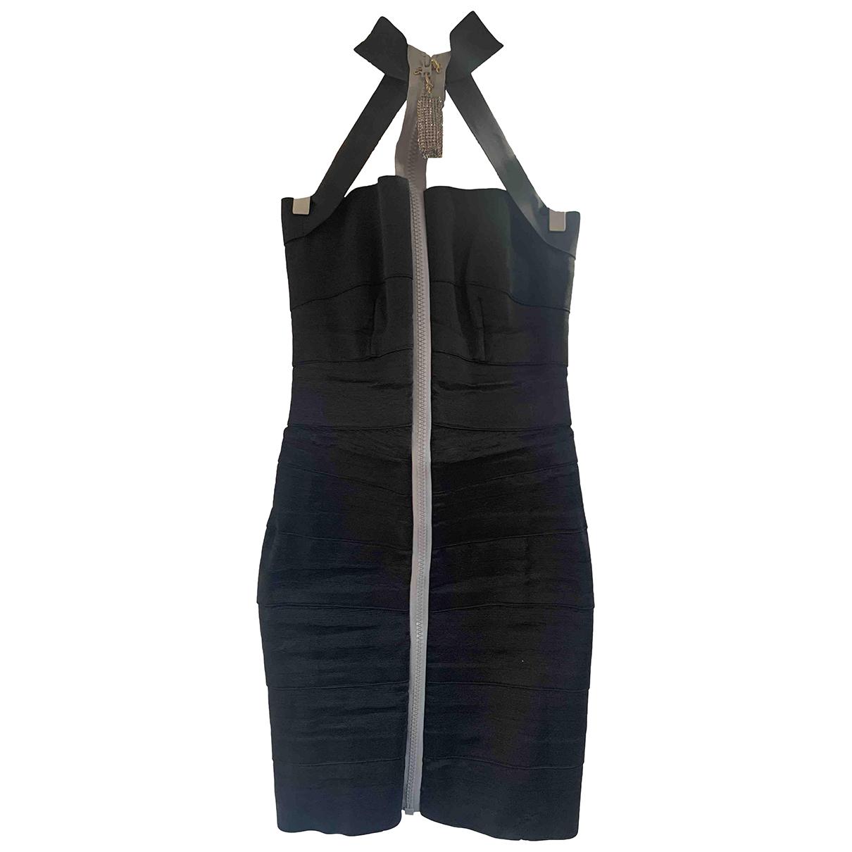 Christopher Kane \N Black Cotton - elasthane dress for Women S International