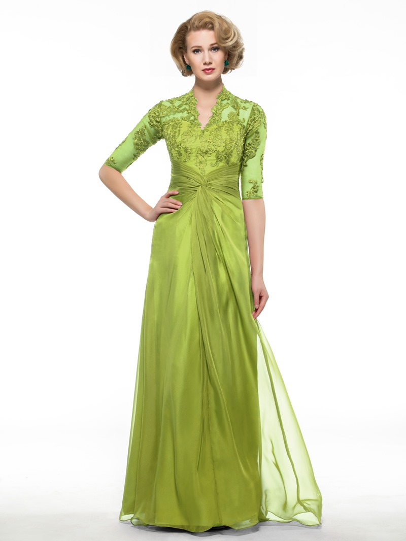 Ericdress Appliques Half Sleeve Mother Of The Bride Dress