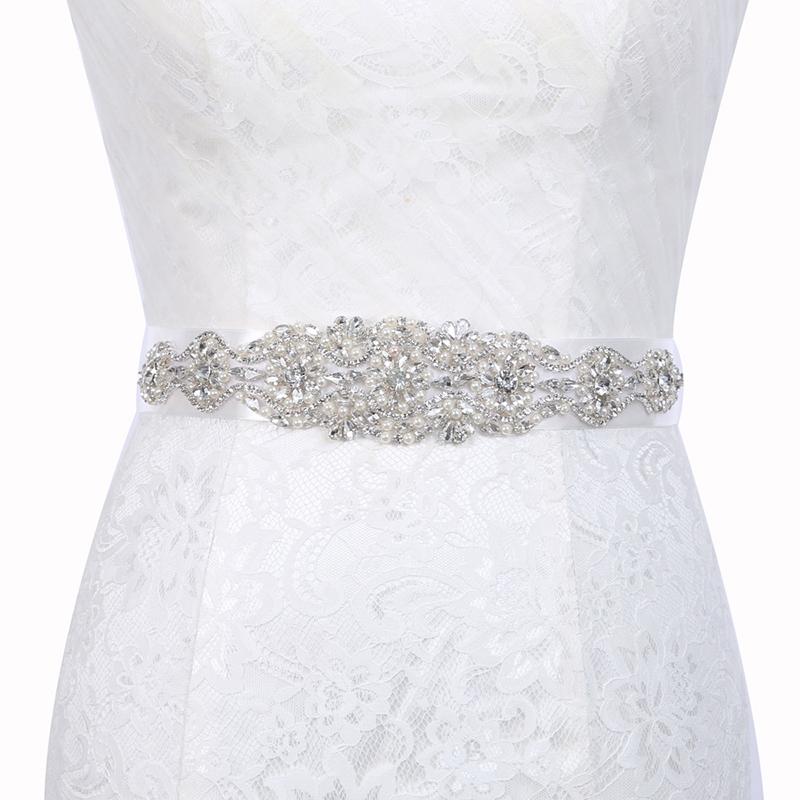 Wide Belt(>4cm) Rhinestone Bridal Belts