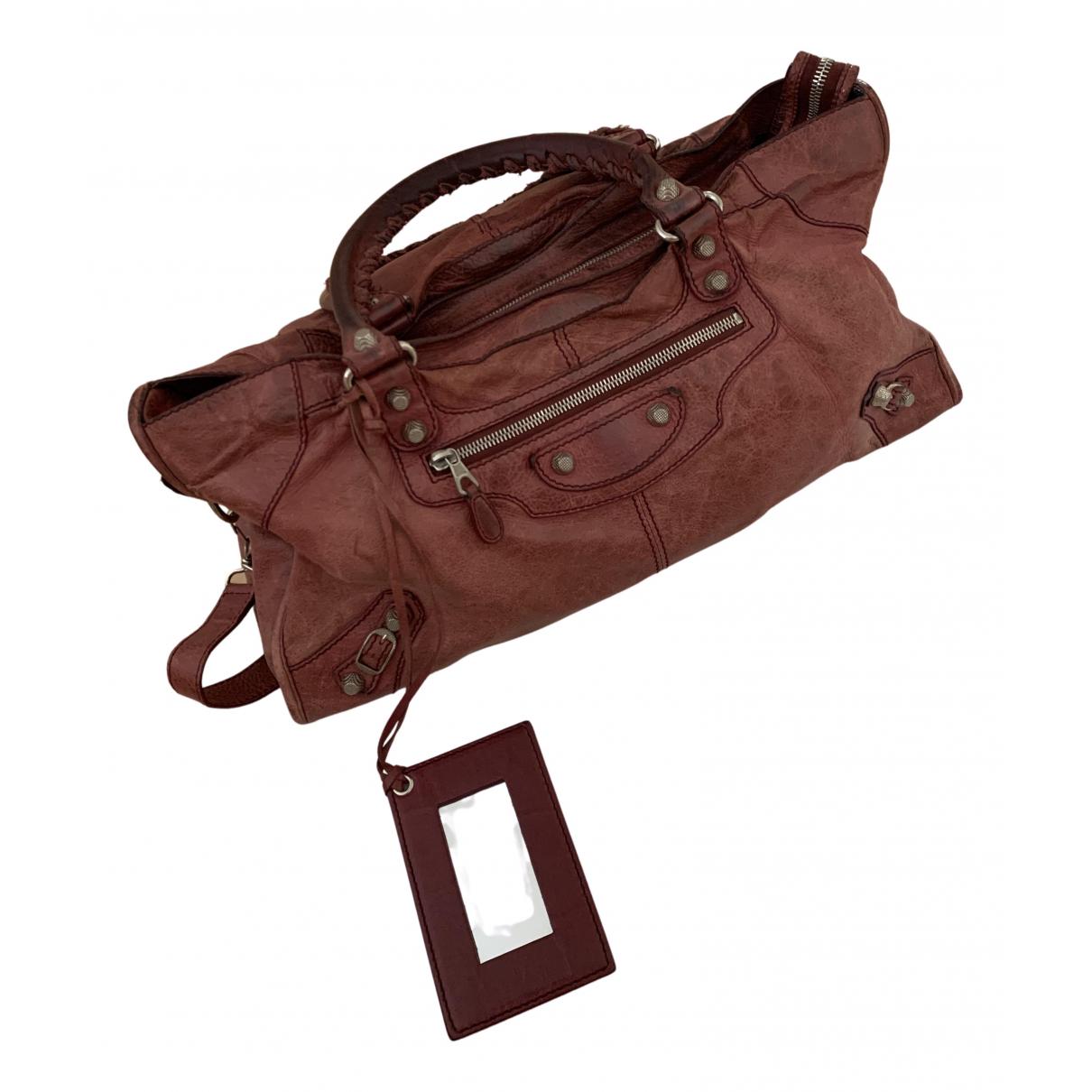Balenciaga Part Time Handtasche in  Lila Leder