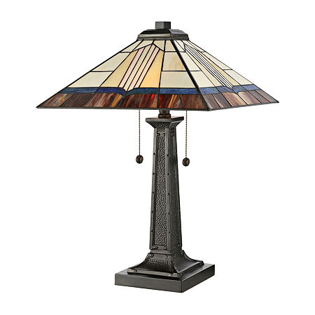 Dale Tiffany Glass Table Lamp, One Size , Brown