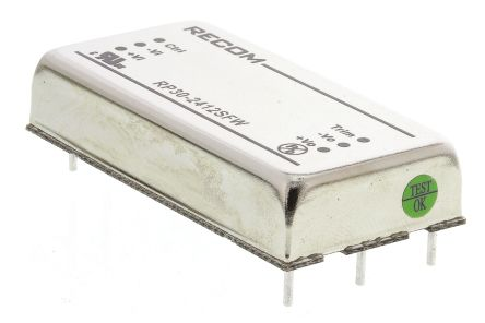 Recom RP30 FW 30W Isolated DC-DC Converter Through Hole, Voltage in 9 → 36 V dc, Voltage out 12V dc