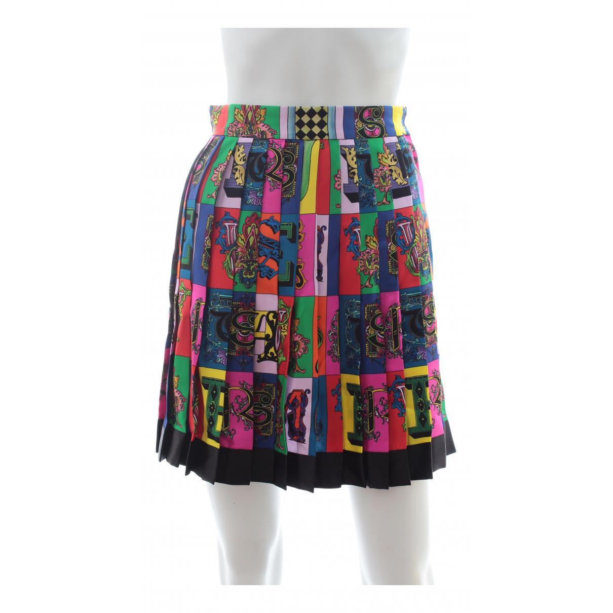 Falda midi de Seda Versace